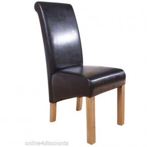 Hudson scroll chair black