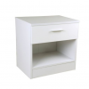 ottowa 1 drawer bedside white