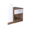 ottowa 1 drawer bedside white oak