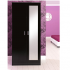 ottowa 2 door mirrored robe black