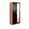 ottowa 2 door mirrored robe black walnut