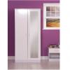 ottowa 2 door robe mirrored white