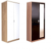 ottowa 2 door robe mirrored white oak