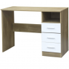 ottowa 3 drawer desk white oak
