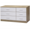 ottowa 6 drawer chest white oak