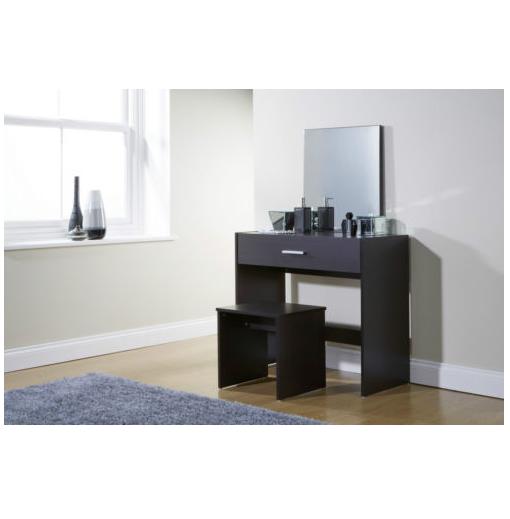 ... Dressing Table Mirror U0026 Stool Espresso. Julia Dresser Black