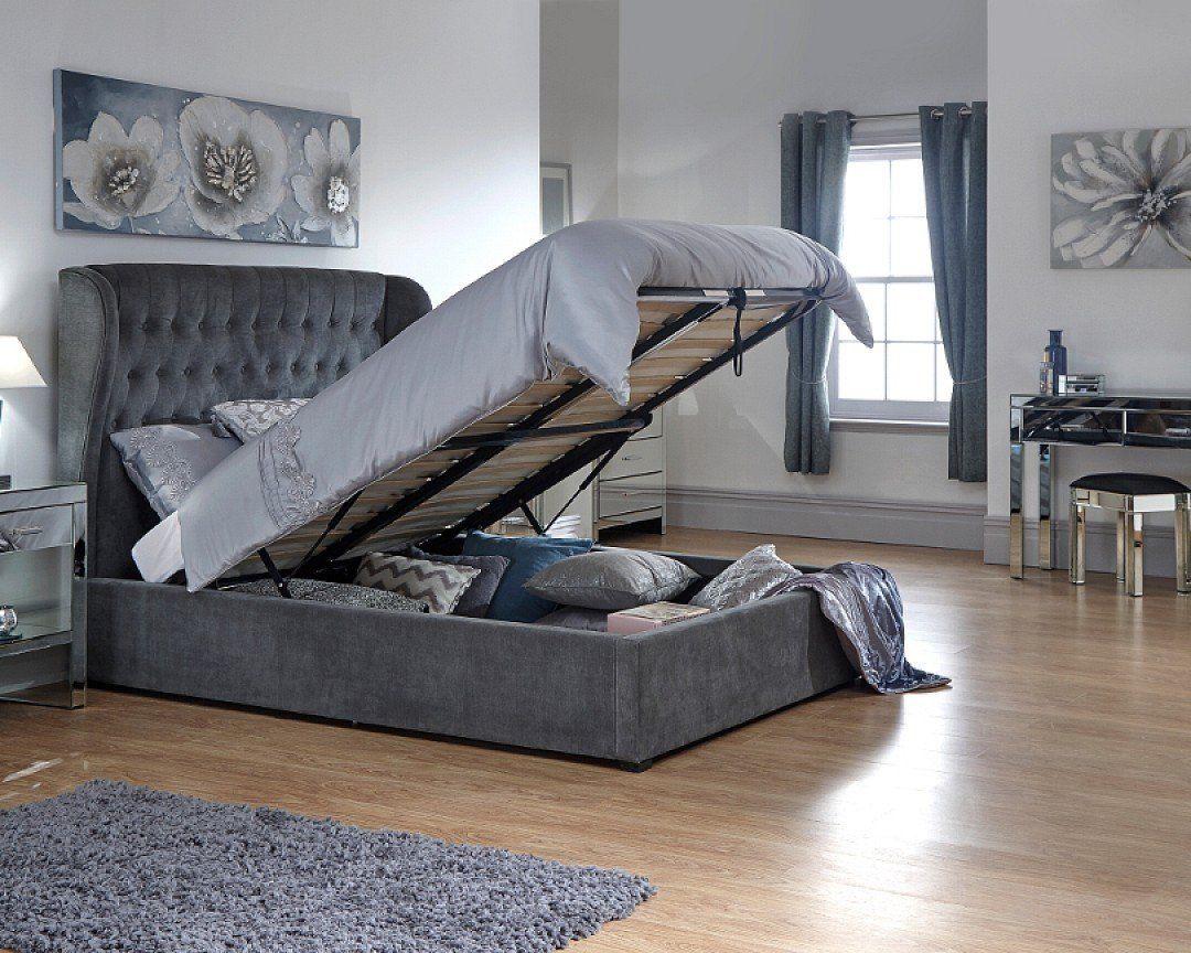 Online 4 Discounts 187 Dakota Double Storage Ottoman Bed