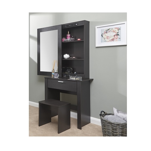best loved 6d108 4d6c2 Hobson Dressing Table Sliding Mirror & Stool Espresso